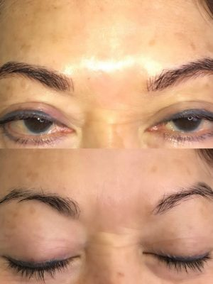 before and after microblading picture
