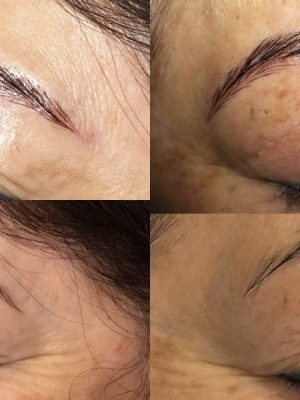 Microblading Before and After Individual brows Round One